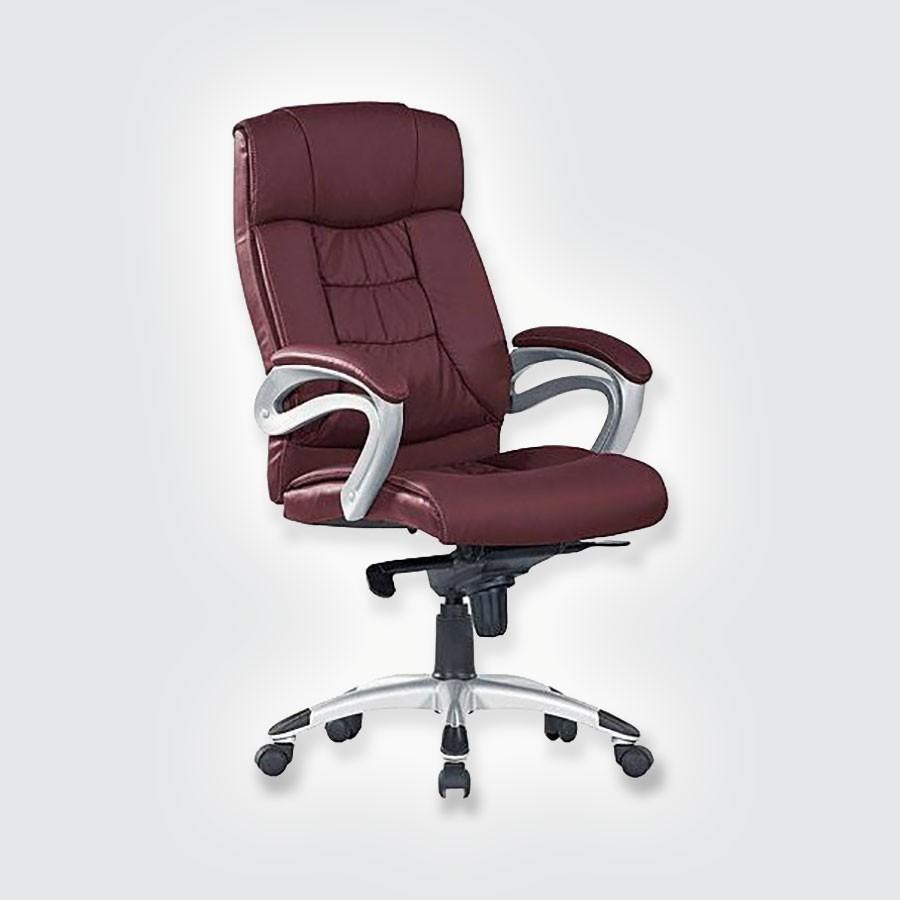 Кресло руководителя Good-Kresla George burgundyВ дизайне кресла George выдержан строгий баланс между яркими запоминающимися деталями и элегантностью формы. Оригинальные подлокотники прекрасно сочетаются с анатомической спинкой и массивным подголовником. Все месте эти детали не позволят спутать George ни с одним креслом, представленным на рынке. Дизайн офисного кресла очень функционален. Конструкция подголовника способствует полному расслаблению шеи во время отдыха.<br>