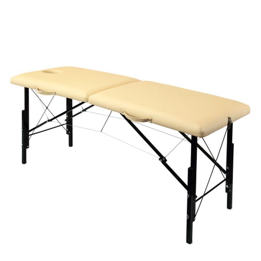 Складной массажный стол Heliox WHN185Это раскладной массажный стол с прорезью для лица. Его прочная и лёгкая конструкция построена на базе каркаса из дерева и системы тросов. Для снижения веса ножки стола выполнены из легкого алюминиевого сплава.<br>