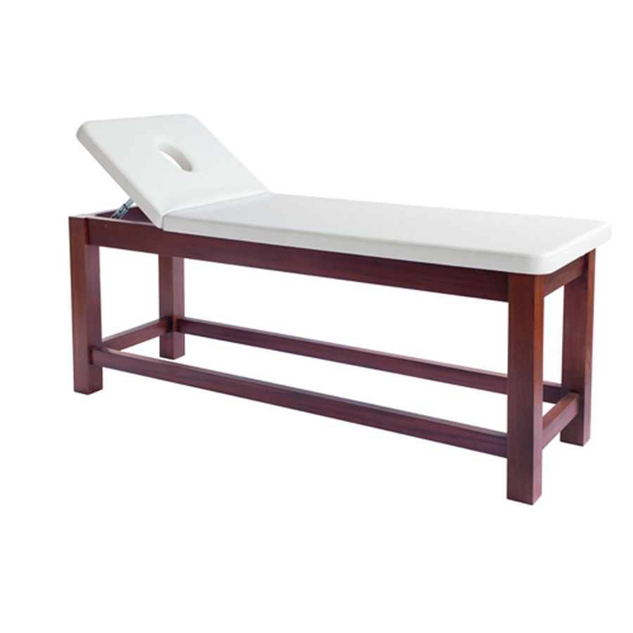 Массажный стол Heliox WCO2Экслюзивная деревянная массажная кушетка, с подъемом головной секции, отличается высоким качеством исполнения, изысканным и элегантным дизайном, элегантность подчеркивает высококачественная полировка дерева.<br>