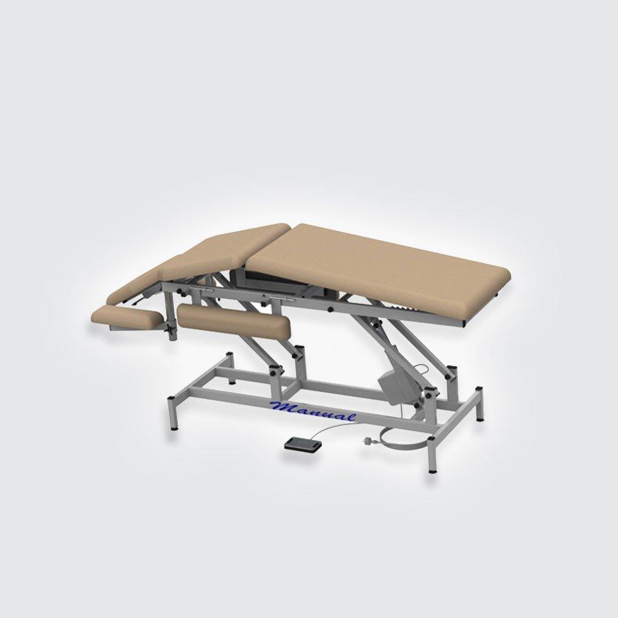 Массажная кушетка медицинская Heliox EH7 (с электроприводом)Экономная модель массажной кушетки с электроприводом, оснащеная боковыми и передними подлокотниками, а также возможностью установки ложа в положение горб (домиком) и подъема секции для ног. Простота и надежность конструкции обеспечивает возможность проведения массажных, косметологических и лечебных процедур.<br>