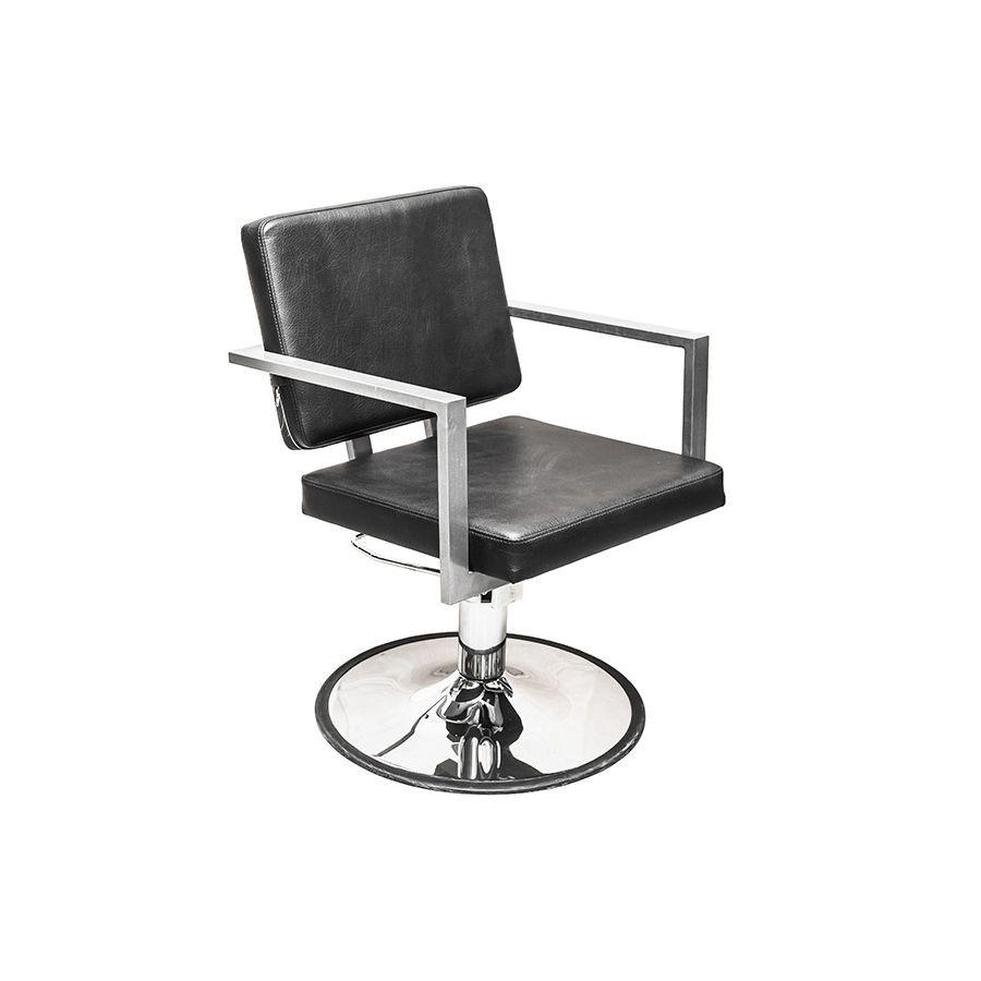 Кресло парикмахерское Имидж Мастер Брут IКлассическое парикмахерское кресло производства компании Имидж Мастер. Его спинка и сиденье выполнены в форме квадрата с хромированными подлокотниками. Общий дизайн кресла говорит о строгом стиле, поэтому оно лучшим образом впишется в брутальный мужской салон-парикмахерскую со стилем LOFT.<br>