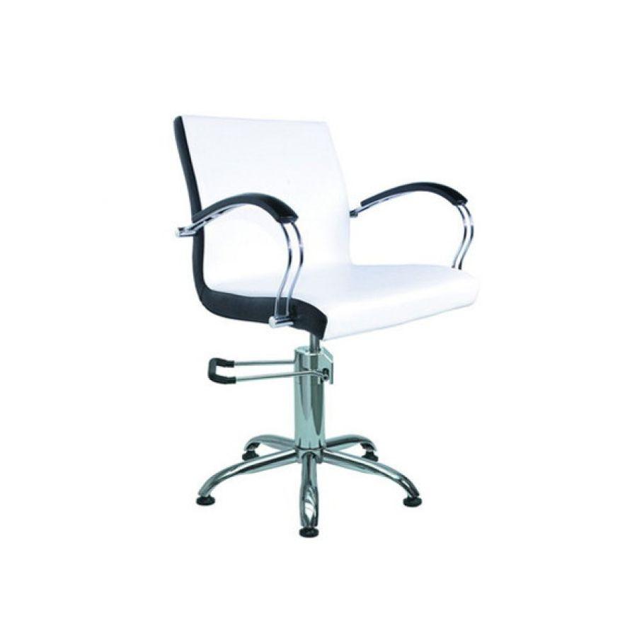 Кресло парикмахерское Имидж Мастер КасаткаПарикмахерское кресло производства российской компании Имидж Мастер, которое носит название КАСАТКА. Получило свое название благодаря цветам, которые применяются в классическом исполнении, а также уникальной форме, которую имеет это кресло. Достаточно широкое и удобное. В комплектацию включено само кресло, подлокотники и ножка.<br>
