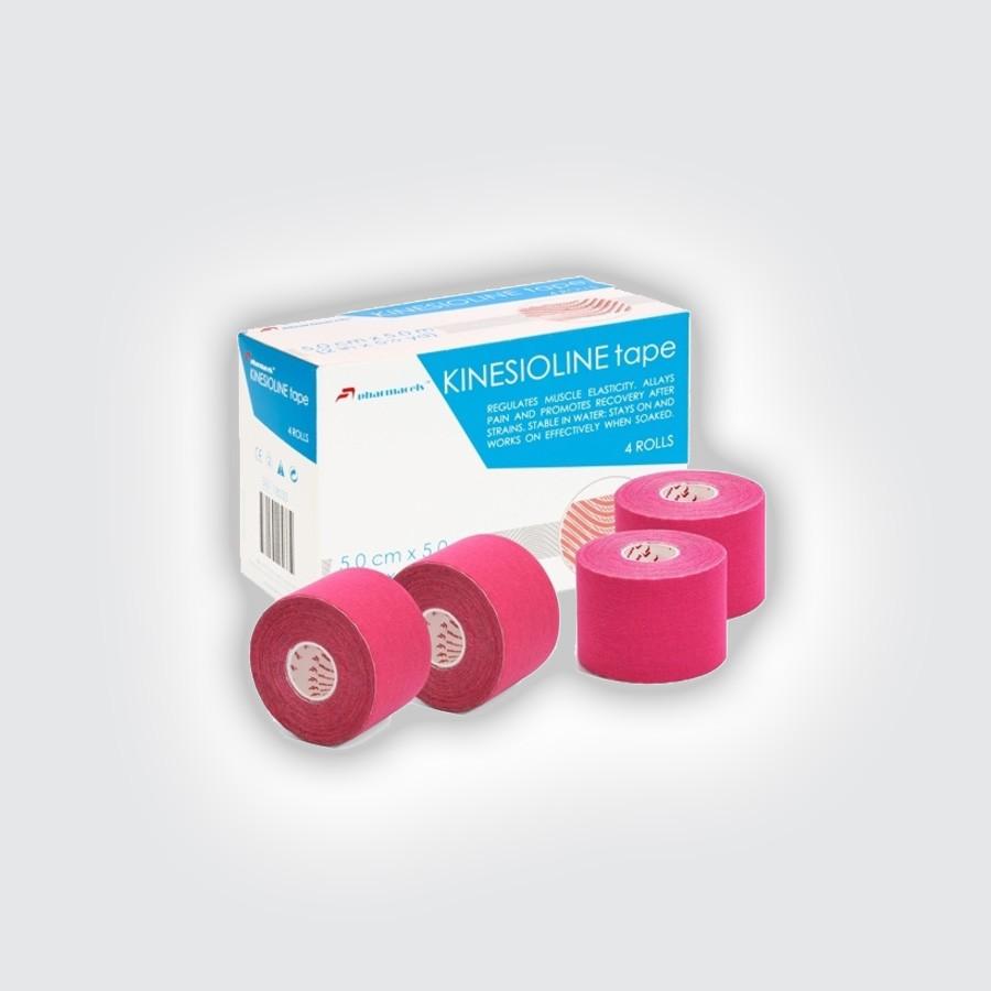 Кинезио тейп Pharmacels KINESIOLINE Tape (4 штуки/уп) розовыйКинезио тейп Фармацельс предназначен для лечения и профилактики широкого спектра заболеваний и травм. Прежде всего, это заболевания и травмы мышц, суставов и связок. Однако, в последнее время, кинезиотейпы Фармацельс с успехом применяются не только при различных нарушениях опорно-двигательного аппарата, но и в обычной медицине и в косметологии.<br>