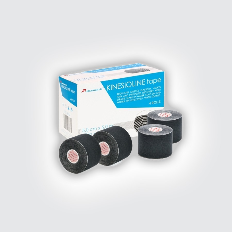 Кинезио тейп Pharmacels KINESIOLINE Tape (4 штуки/уп) черныйКинезио тейп Фармацельс предназначен для лечения и профилактики широкого спектра заболеваний и травм. Прежде всего, это заболевания и травмы мышц, суставов и связок. Однако, в последнее время, кинезиотейпы Фармацельс с успехом применяются не только при различных нарушениях опорно-двигательного аппарата, но и в обычной медицине и в косметологии.<br>