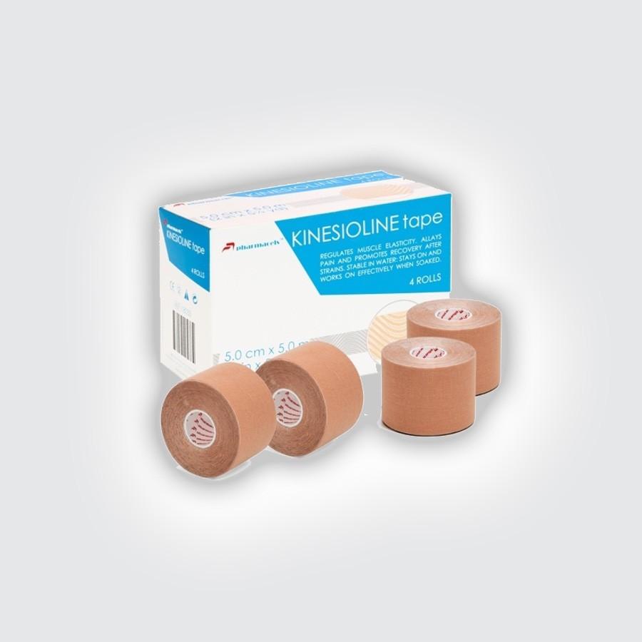 Кинезио тейп Pharmacels KINESIOLINE Tape (4 штуки/уп) бежевый от Relax-market