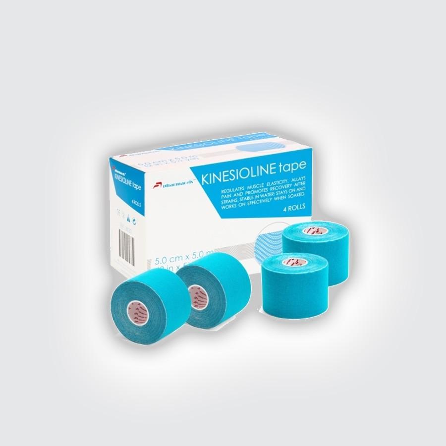Кинезио тейп Pharmacels KINESIOLINE Tape (4 штуки/уп) голубойКинезио тейп Фармацельс предназначен для лечения и профилактики широкого спектра заболеваний и травм. Прежде всего, это заболевания и травмы мышц, суставов и связок. Однако, в последнее время, кинезиотейпы Фармацельс с успехом применяются не только при различных нарушениях опорно-двигательного аппарата, но и в обычной медицине и в косметологии.<br>