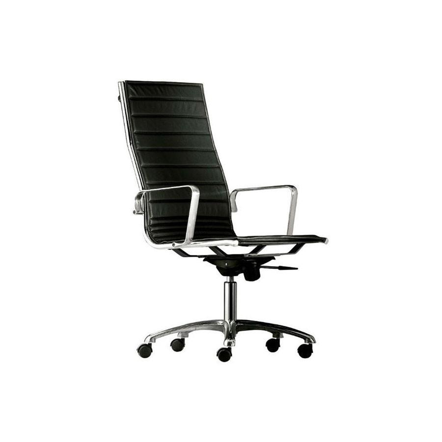 Кресло Scott Howard Luxy LIGHT A черное кожаное (высокая спинка)Итальянская коллекция офисных кресел серии LIGHT представлена разнообразными моделями высочайшего исполнения. Стильный представительный вид выгодно отличает эту модель на фоне остальных.<br>