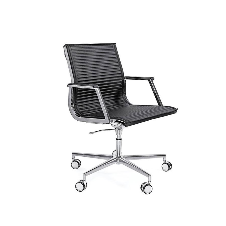 Кресло Scott Howard Luxy NULITE B черное кожаное (хром)Яркие кресла серии NULITE станут прекрасным дополнением любого офиса. Строгий стильи эргономичный дизайн являются несомненными плюсами этой модели. Будут отлично смотреться как на рабочем месте, так и в переговорных.<br>