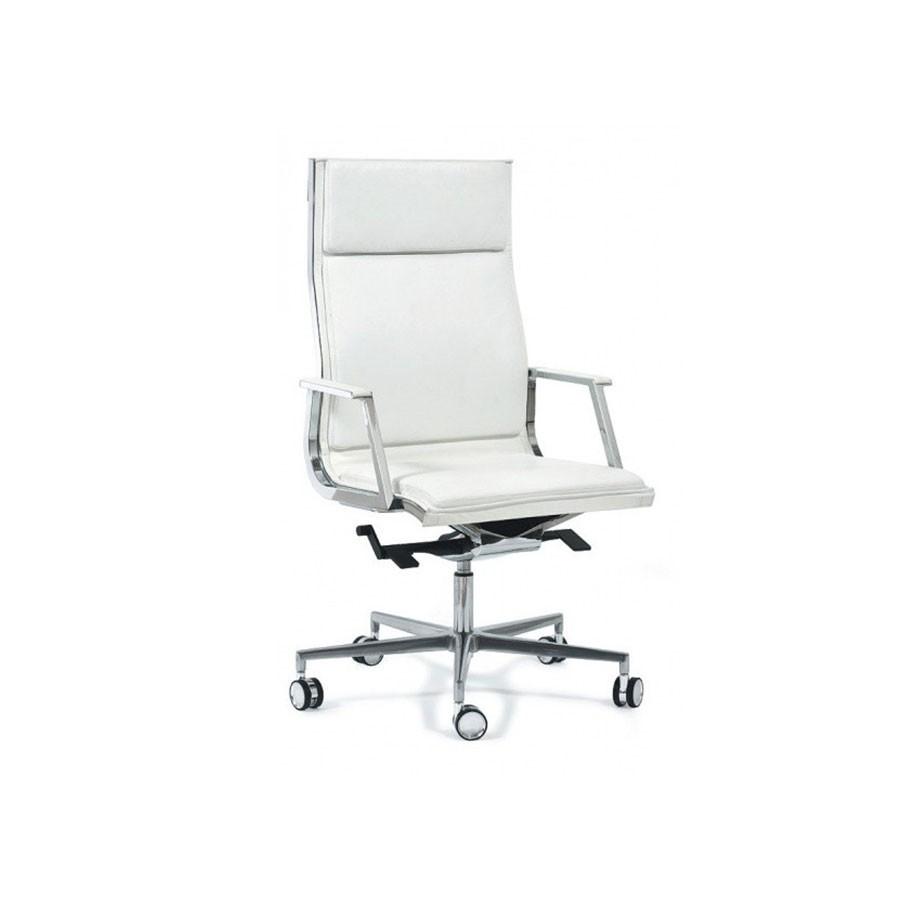 Кресло Scott Howard Luxy NULITE-PAD A белое кожаноеСтильный и эргономичный вариант для руководителя. В этом кресле прекрасно сочетаются минимализм и богатый функционал. Строгий дизайн кресла в классической расцветке отлично дополнит офисный интерьер. Отличный выбор современных людей.<br>