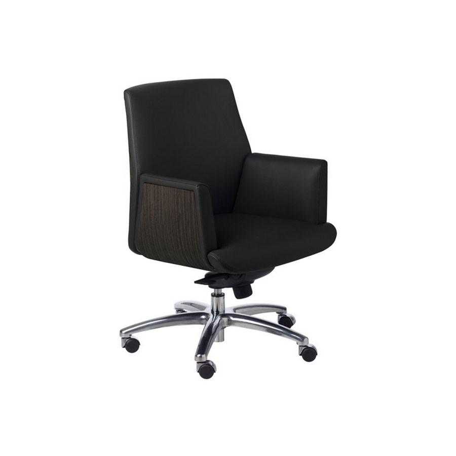 Кресло руководител New Line Office ZEUS/В кожаное (тёмн.орех/чёрный)В том кресле гармонично сочетатс комфорт, модерн и практичность. Оно не останетс незамеченным и обзательно обратит на себ внимание. Строгий классический дизайн кресла обзательно впишетс даже в самый изысканный интерьер&amp;nbsp; и порадует даже самого взыскательного потребител.<br>