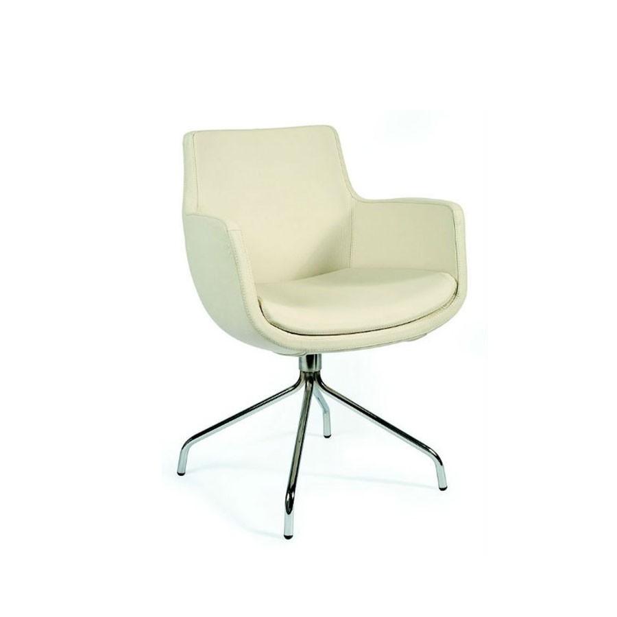 Дизайнерское кресло Scott Howard Felicia бежевая кожаСочетание натуральной кожи и хрома&amp;nbsp; создаёт впечатление солидности.&amp;nbsp; Кресло прекрасно впишется в строгий офисный стиль. Нейтральная расцветка и современный внешний вид позволяет использовать его в самых разнообразных решениях интерьера.<br>