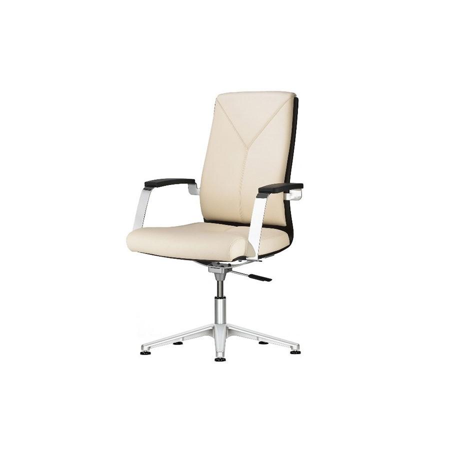 Кресло Scott Howard Sitland MADERA/В, дерев. подлокотники (беж/орех)Изысканный стиль для изысканного руководителя. Стильный внешний вид и богатый функционал выгодно выделяют эту модель на фоне остальных. Сочетание кожи и деревянных вставок на спинке кресла позволяют создавать самый неповторимый интерьер, выигрышно комбинируя с различной мебелью. Кресло с высокой спинкой подчеркнёт статут компании.<br>