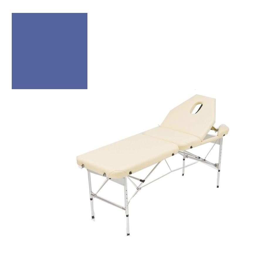 Складной массажный стол Med-Mos JFAL02 синийМассажный стол легко и быстро трансформируется в чемодан. Основа - многослойная легкая фанера. Рама -алюминий. Поверхность - высокачественный винил. Наполнение - плотный пенополиуретан толщиной 5 см. Цвет - бежевый, синий Регулировка по высоте.<br>