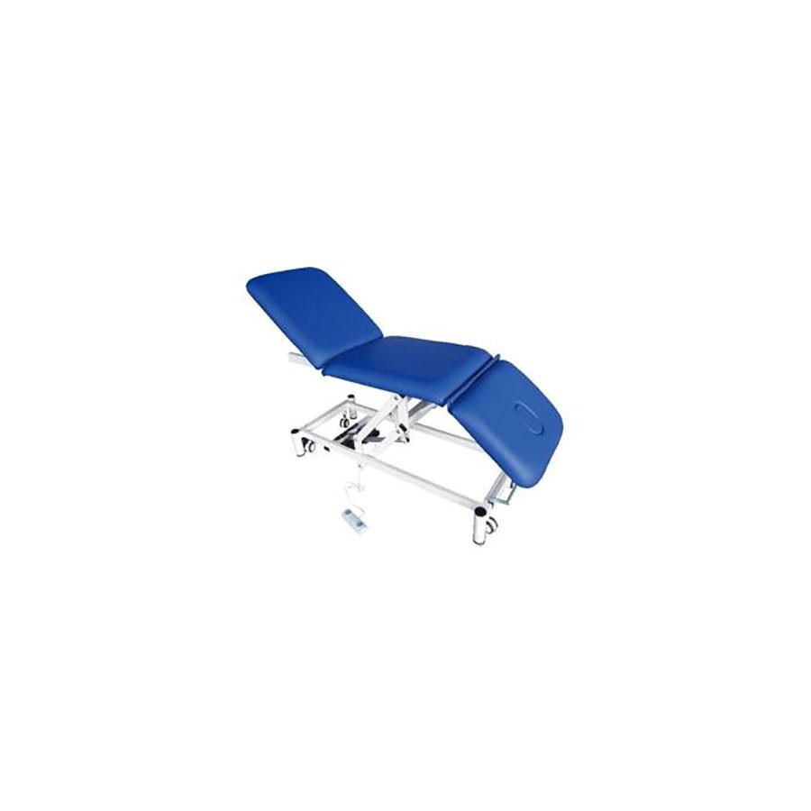 Стационарный массажный стол Med-Mos DB-9 тип 2 синийМедицинская электрическая кровать (функциональная кушетка) для массажа с регулировкой подъёма головной и ножной секций. Максимальная рабочая нагрузка &amp;ndash; 200 кг.<br>