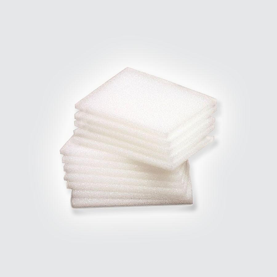 Прокладки под тейп тонкие Mueller, 1000 штукТонкие белые прокладки, применяемые со смазкой для защиты стоп от натирания обувью.<br>