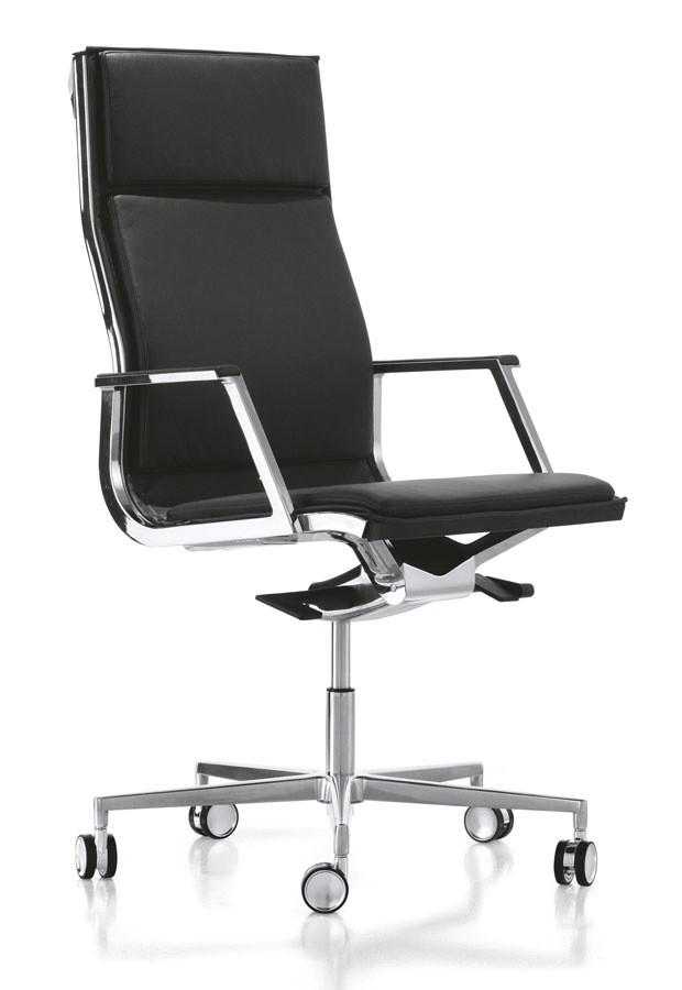 Кресло Scott Howard Luxy NULITE-PAD A чёрное кожаноеСтильный и эргономичный вариант для руководителя. В этом кресле прекрасно сочетаются минимализм и богатый функционал. Строгий дизайн кресла в классической расцветке отлично дополнит офисный интерьер. Отличный выбор современных людей.<br>