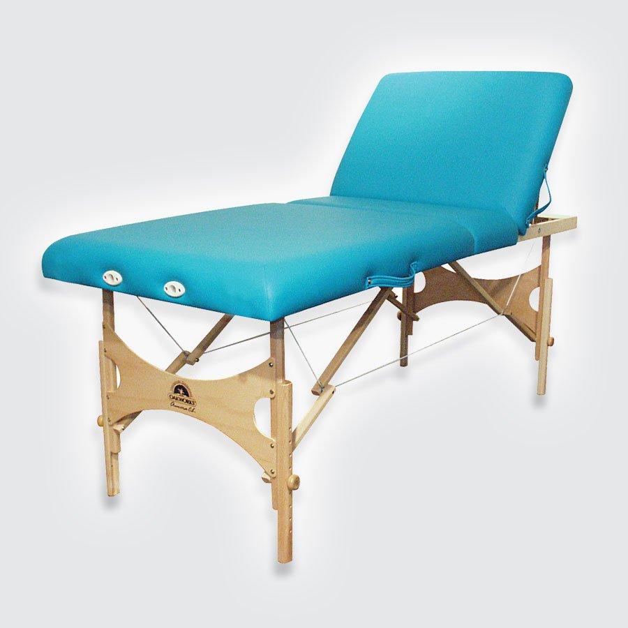 Складной массажный стол Oakworks Alliance WoodМассажный стол складной. Идеально подходит для проведения массажа, мануальной терапии, физиотерапевтических и других лечебных процедур. На этом столе можно проводить массаж беременным женщинам и людям с заболеваниями сердечно-сосудистой системы. Высота регулируется путем переставления одной из частей каждой ножки с последующей фиксацией фирменной шарообразной ручкой (показана на фото), исключая люфт и какое-либо раскачивание стола.<br>