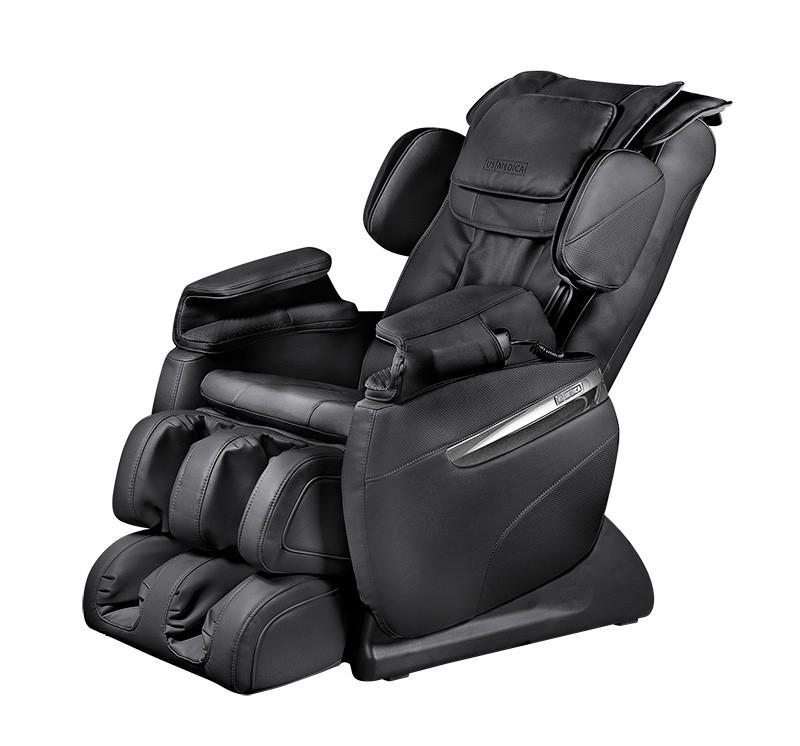 Массажное кресло для дома US Medica Quadro черныйМассажное кресло US Medica Quadro было разработано специально для домашнего пользования. Утром оно поможет своему владельцу быстро проснуться и обрести бодрость. А с помощью расслабляющего массажа верхней части туловища и ног поможет восстановиться после интенсивного рабочего дня. При этом, цена на массажное кресло вполне доступна и вполне оправдана, так как однажды приобретя данное кресло Вы можете забыть о посещениях профессионального массажиста.<br>