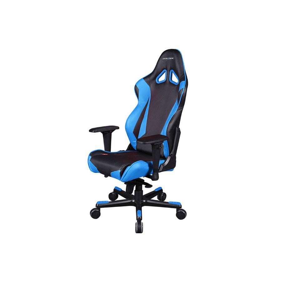 Компьютерное кресло Racing OH/RJ001/NBКомпьютерное кресло DXRacer OH/RJ001/NR &amp;ndash; стильная и удобная модель, позволяющая проводить длительное время за компьютером с максимальным комфортом. Этому способствуют анатомические особенности конфигурации.<br>