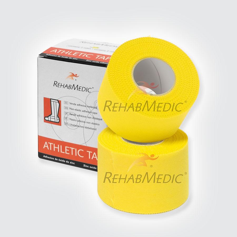 Тейп атлетический Rehab Medic Athletic Retail, цветной желтыйАтлетический тейп из 100 хлопка.<br>