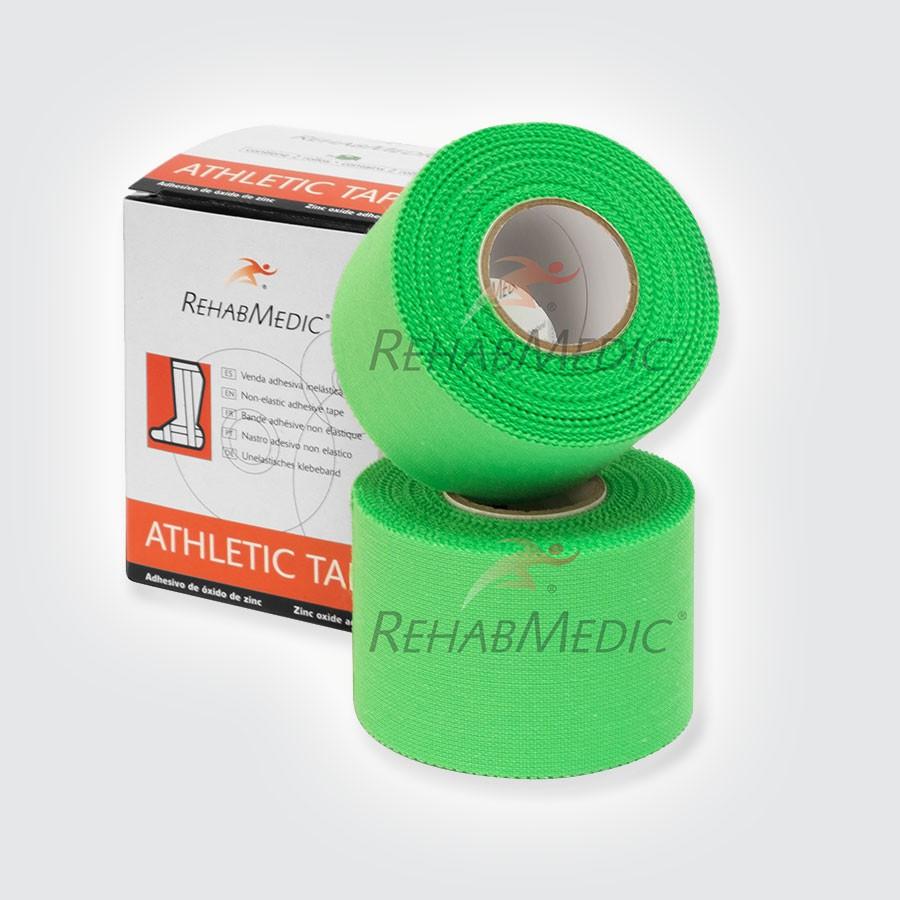 Тейп атлетический Rehab Medic Athletic Retail, цветной зеленыйАтлетический тейп из 100 хлопка.<br>
