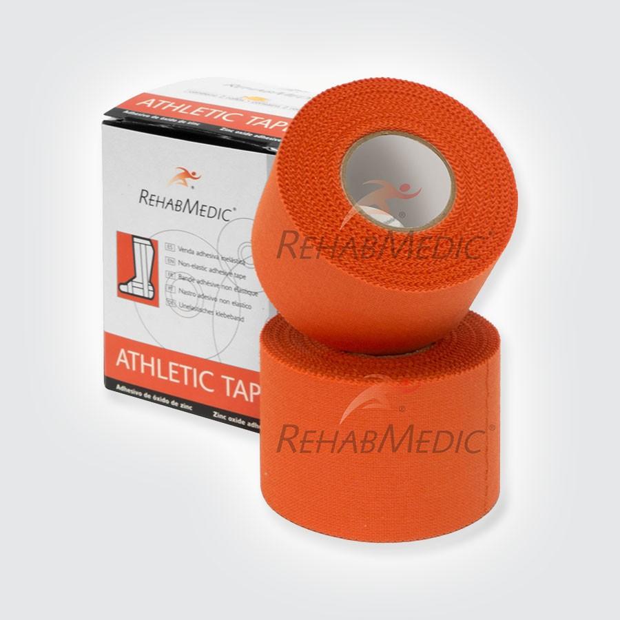 Тейп атлетический Rehab Medic Athletic Retail, цветной оранжевыйАтлетический тейп из 100 хлопка.<br>