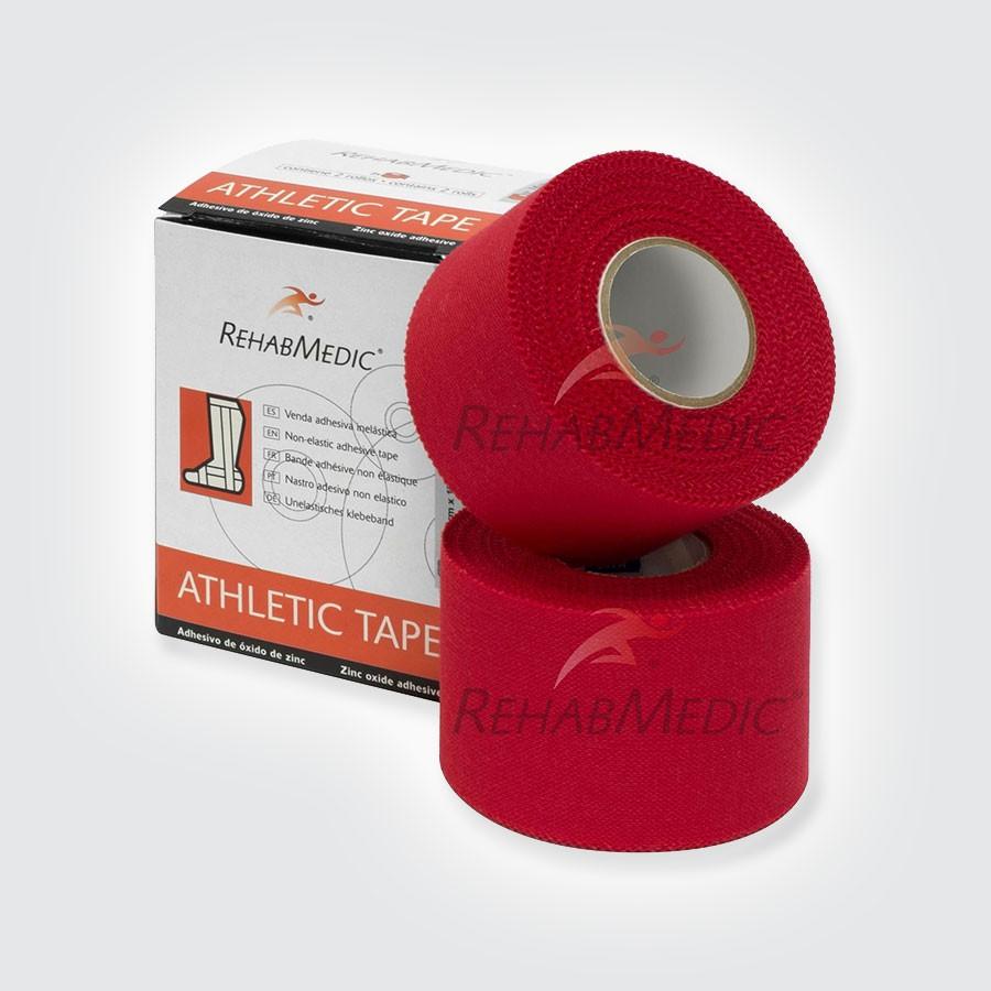 Тейп атлетический Rehab Medic Athletic Retail, цветной красныйАтлетический тейп из 100 хлопка.<br>