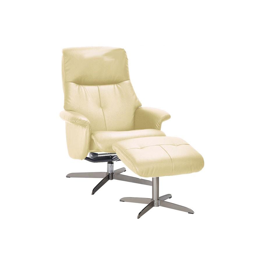 Кресло-реклайнер Relax Boss S14032 кожа слоновая костьНовая оригинальная модель кресла реклайнера 2015 года.&amp;nbsp;Модель кресла реклайнера Relax модель BOSS art. S14032 можно характеризовать как качественное кресло для оборудования статусного кабинета с возможностью глубокого отклонения спинки и отдельно стоящим пуфом для ног.<br>