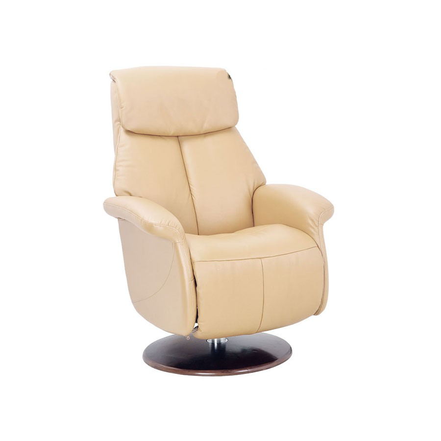 Кресло-реклайнер Relax Lotus 7703 кожа-слоновая кость / дерево-светлый орехМодель кресла реклайнера LOTUS - максимально комфортное кресло с выдвигаемой подножкой. Это кресло обладает всеми необходимыми функциями, чтобы помочь вам расслабиться дома и продуктивно поработать в офисе. При этом модель очень компактная.&amp;nbsp;Эргономичное кресло-реклайнер Relax Lotus &amp;ndash; очень удобное и мега-функциональное. Надо поработать? Без проблем! К креслу можно приставить столик для ноутбука, это предусмотрено конструкцией. Можете работать с комфортом, не напрягая спину и поясницу.<br>