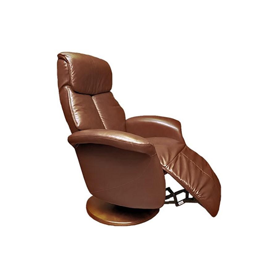 Кресло-реклайнер Relax Lotus 7703 кожа - темно-коричн / дерево-светло-коричневыйМодель кресла реклайнера LOTUS - максимально комфортное кресло с выдвигаемой подножкой. Это кресло обладает всеми необходимыми функциями, чтобы помочь вам расслабиться дома и продуктивно поработать в офисе. При этом модель очень компактная.&amp;nbsp;Эргономичное кресло-реклайнер Relax Lotus &amp;ndash; очень удобное и мега-функциональное. Надо поработать? Без проблем! К креслу можно приставить столик для ноутбука, это предусмотрено конструкцией. Можете работать с комфортом, не напрягая спину и поясницу.<br>