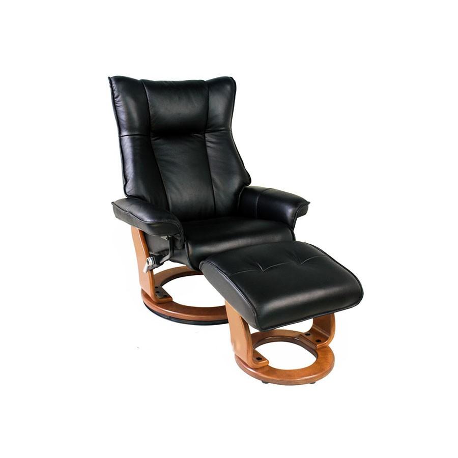 Кресло-реклайнер Relax Melvery 7436 кожа-черный / дерево-светло-коричневыйКресло-реклайнер Relax Мелвери &amp;ndash; это уникальная трансформирующаяся мебель, которая поможет вам полностью расслабиться как дома перед телевизором, так и на рабочем месте в офисе. Универсальная конструкция позволяет комфортно отдохнуть, при этом минимизируется нагрузка на поясницу, поддерживается правильная осанка, расслабляются мышцы всего тела.&amp;nbsp;Это кресло удивительно удобно, красиво и практично, но самое главное &amp;ndash; разработано с учетом правил эргономики.<br>