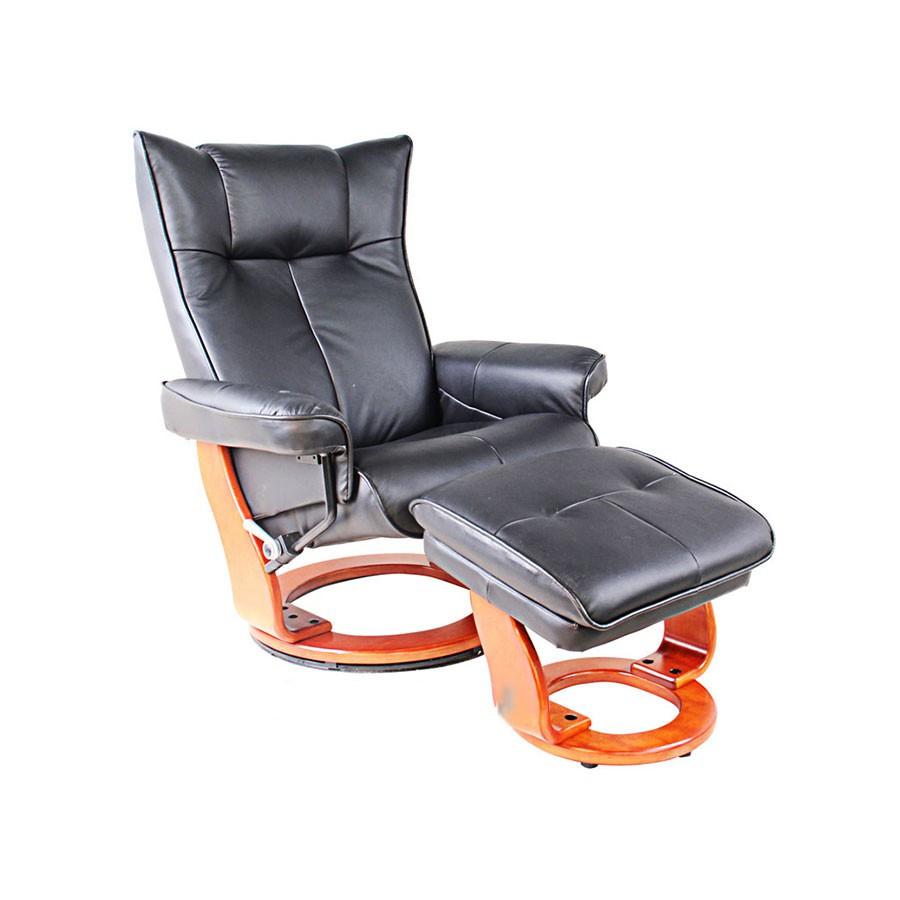 Кресло-реклайнер Relax MAURIS 7604W кожа-черная / дер-светло-корКожаное кресло-реклайнер Relax Mauris является универсальной моделью для офиса и дома. Оно может быть удобным шезлонгом для отдыха, или великолепным статусным кожаным креслом для работы, чтения, или просмотра фильмов.<br>