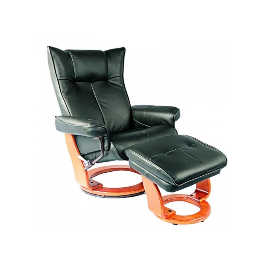 Кресло-реклайнер Relax MAURIS 7604W кожа-зеленая / дерево-светло-коричневыйКожаное кресло-реклайнер Relax Mauris является универсальной моделью для офиса и дома. Оно может быть удобным шезлонгом для отдыха, или великолепным статусным кожаным креслом для работы, чтения, или просмотра фильмов.<br>