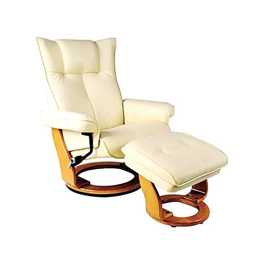 Кресло-реклайнер Relax MAURIS 7604W кожа-слоновая кость / дерево-светлый орехКожаное кресло-реклайнер Relax Mauris является универсальной моделью для офиса и дома. Оно может быть удобным шезлонгом для отдыха, или великолепным статусным кожаным креслом для работы, чтения, или просмотра фильмов.<br>