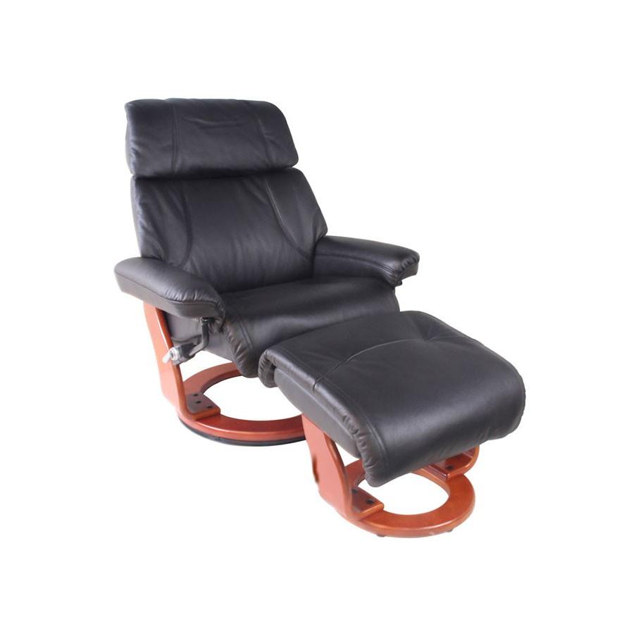 Кресло-реклайнер Relax Piabora 7511W кожа-черная / дерево - светло-коричневыйКресло-реклайнер Пиабора &amp;ndash; выбор тех, кто знает толк в релаксе. Кресло-реклайнер Пиабора из серии Relax &amp;ndash; это трансформирующаяся мебель, благодаря которой вы сможете почувствовать полное расслабление всего тела. Для еще большого комфорта предусмотрен удобный пуфик для ног.&amp;nbsp;Вы будете получать удовольствие от комфорта, занимаясь при этом своими делами &amp;ndash; работой, отдыхом, чтением, просмотром фильмов в оборудованном домашнем кинотеатре.<br>