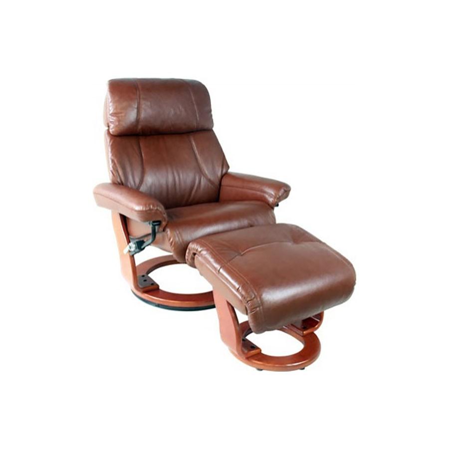 Кресло-реклайнер Relax Piabora 7511W кожа-темно-коричневый / дерево - светло-коричневыйКресло-реклайнер Пиабора &amp;ndash; выбор тех, кто знает толк в релаксе. Кресло-реклайнер Пиабора из серии Relax &amp;ndash; это трансформирующаяся мебель, благодаря которой вы сможете почувствовать полное расслабление всего тела. Для еще большого комфорта предусмотрен удобный пуфик для ног.&amp;nbsp;Вы будете получать удовольствие от комфорта, занимаясь при этом своими делами &amp;ndash; работой, отдыхом, чтением, просмотром фильмов в оборудованном домашнем кинотеатре.<br>