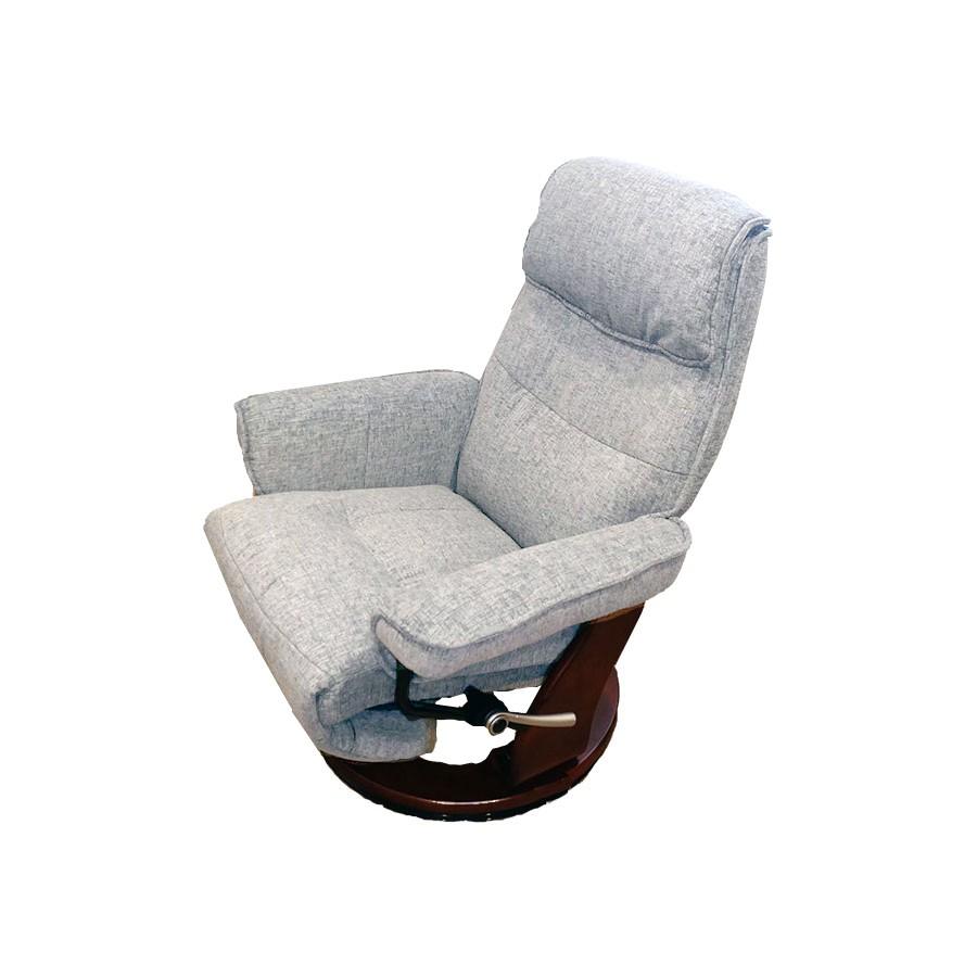 Кресло-реклайнер Relax Rio 7651 ткань cерый / дерево-темный орехЭта модель &amp;ndash; идеальный вариант для людей, которые хотят купить эргономичное кресло для небольшой квартиры или служебного кабинета, так как она сочетает в себе все особенности реклайнера, обладая при этом чрезвычайно компактными размерами.&amp;nbsp;Утонченные линии кресла придадут изысканности любому помещению и подчеркнут ваш безупречный вкус.&amp;nbsp;Но самое главное &amp;ndash; его мега-функциональность.<br>