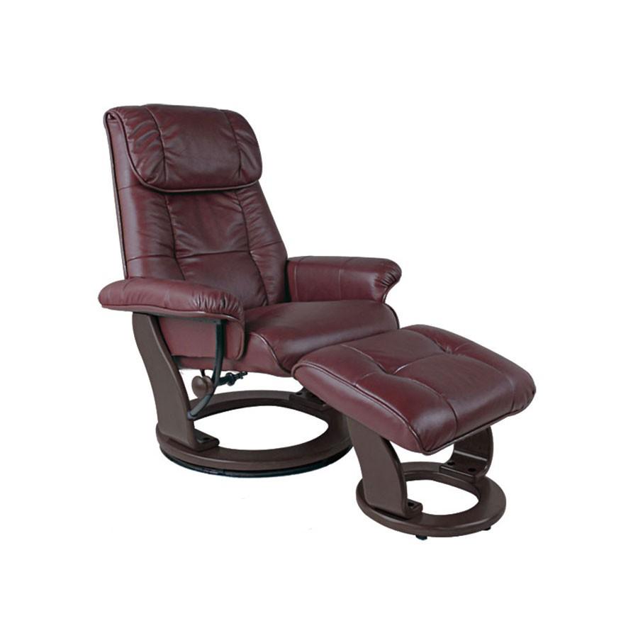 Кресло-реклайнер Relax Ularia 7112L кожа-бордо /дерево-венгеОригинальное кресло-реклайнер Улария позволит комфортно отдыхать и работать в любом удобном для вас положении. Эргономическая конструкция подойдет тем, кто заботится о своем здоровье, ведь при проектировании учитываются анатомические особенности строения человека. В итоге удается исключить нарушение кровообращения, нагрузки на отдельные области спины, бедер, шеи.<br>