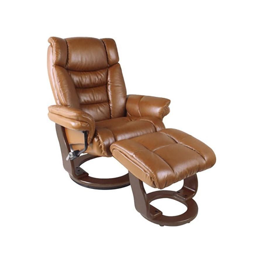 Кресло-реклайнер Relax Zuel 7582W кожа-коричневый / дерево-орех