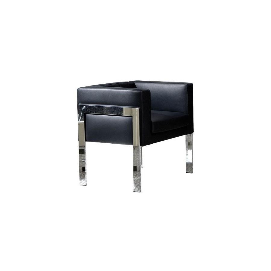 Дизайнерское кресло  Scott Howard You3 черная кожаПридаст любому офисному интерьеру лаконичный вид. Строгий чёрный цвет и хром добавят солидности. А вертикальная прострочка на спинке кресла создаёт неповторимый, уникальный внешний вид.<br>