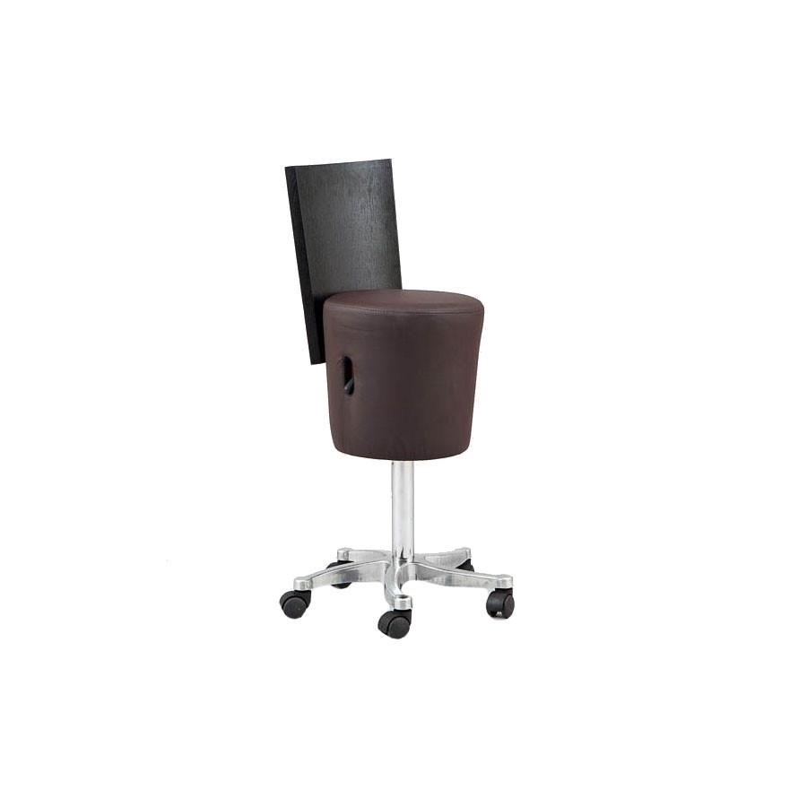 Стул мастера со спинкой SD-9028Дизайнерский стул, предназначенный для создания комфортного рабочего пространства мастера по маникюру. Стул обладает следующими отличительными особенностями: нестандартной формой; высоким качеством материалов, используемых при изготовлении; многофункциональностью. Этот стул станет отличным дополнением интерьера, выполненного в современном стиле.<br>
