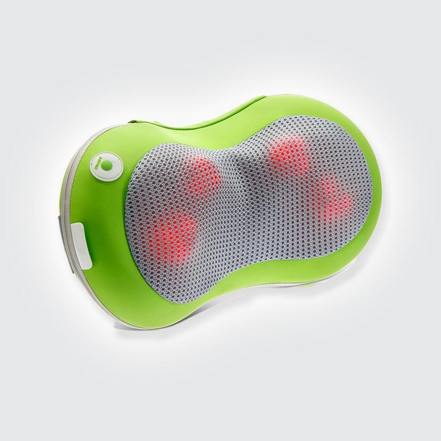 Массажная подушка Takasima AppleMedПодушка-массажер имеет эргономичный дизайн, идеально подходит для использования дома, в офисе, в автомобиле. Водители, совершающие длительные переезды, в течение которых шейные мышцы особенно напряжены, по достоинству оценят преимущество этой подушки-массажера.&amp;nbsp;Девайс расслабляет мышцы шеи, плеч и спины. Функция массажа стимулирует приток крови к голове, что снимает чувство усталости и склонность ко сну, бодрит и поднимает тонус.<br>