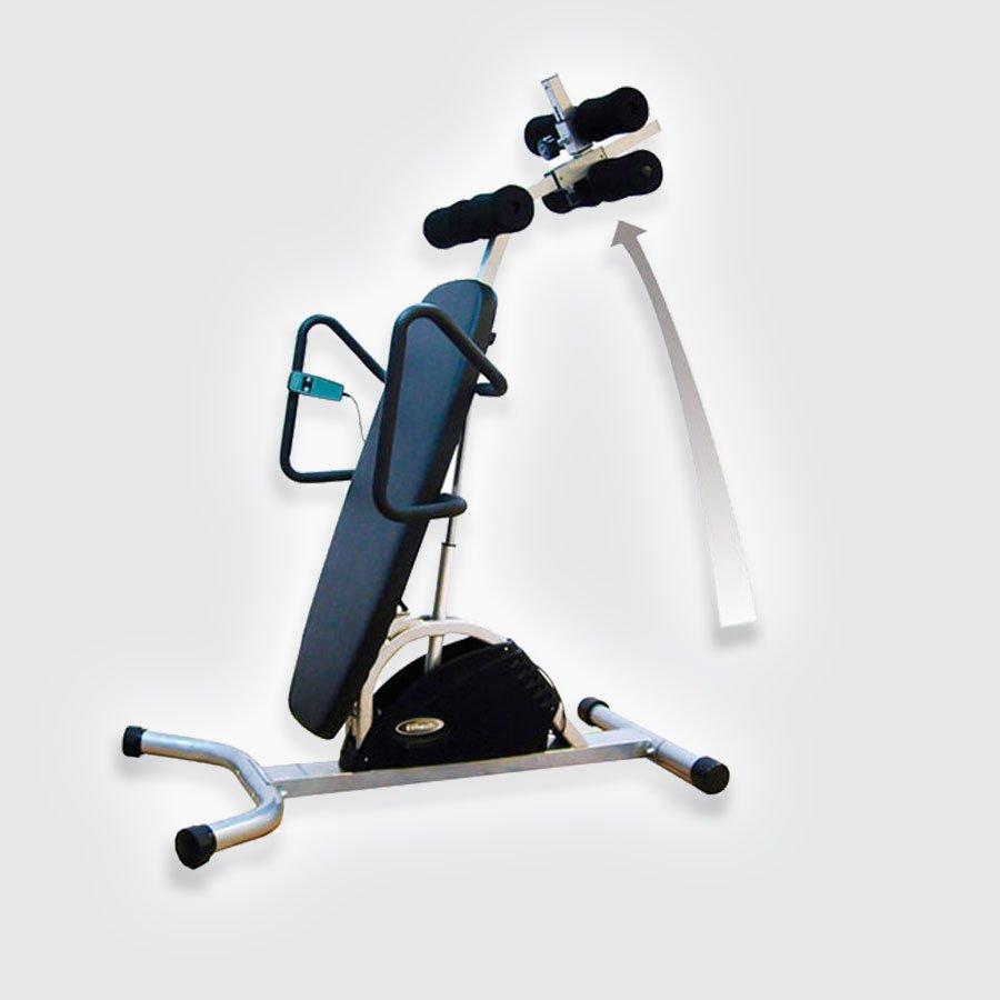 Инверсионный стол Takasima MI-630Эргономичный инверсионный стол MI-630 обладает уникальной конструкцией, которая помогает пользователям без страха поворачивать свое тело в любую удобную позицию с помощью встроенного электродвигателя. Таким образом Вы можете настроить свое положение под углом от 0 до 90 градусов. Согласно теории гравитации,изменение положения тела помогает пользователям уменьшить напряжение на мышцы спины и поясницы.<br>