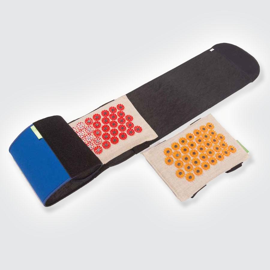 Пояс ТИБЕТСКИЙ (Аппликатор Кузнецова) размер MТибетский аппликатор, пояс с игольчатыми элементами. Эта система, состоящая из пояса и подушки с колющими элементами, предназначена для лечения болей в пояснице. На каждой подушечке закреплены иглы различной остроты, для более или менее глубокого воздействия на поясничный отдел.<br>