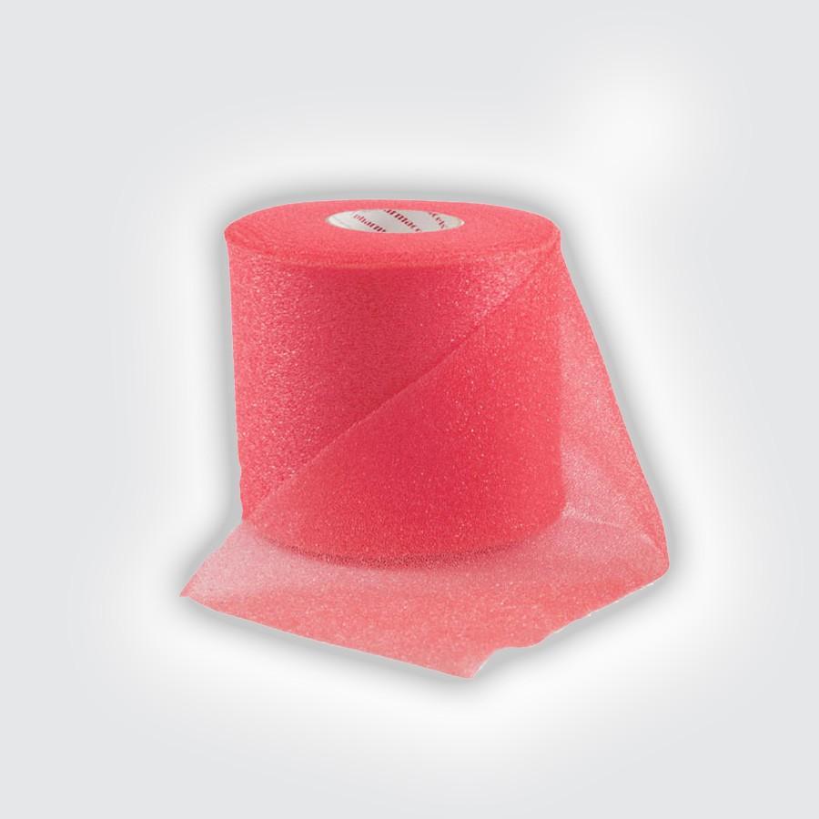 Подтейпник Pharmacels UnderWrap красныйПористый полиуретановый перевязочный материал (подтейпник), используемый в качестве подкладки под спортивный тейп.<br>