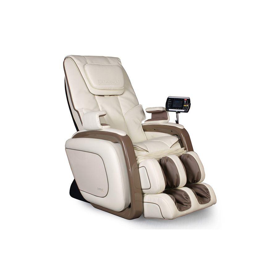 Массажное кресло US Medica Cardio бежевыйМассажное кресло US Medica Cardio ориентировано на индивидуальные потребности любого человека. Главной задачей данного устройства является предотвращение заболеваний, связанных с суставами и оттоком лимфы. При этом производители создали данное кресло по привлекательной стоимости, доступной широкому кругу потребителей.<br>