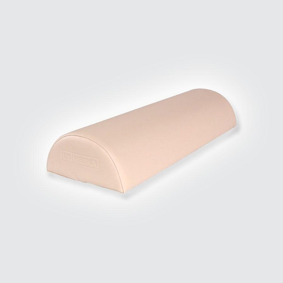 Валик полукруглый US MEDICA USM 002Массажные валики подходят к любому массажному столу. Обивка изготовлена из арпатека высокого качества (искуственная кожа, гипоаллергенная и приятная на ощупь). Наполнитель - поролон. Валики надежно крепится к столу ремнями с застежками.<br>