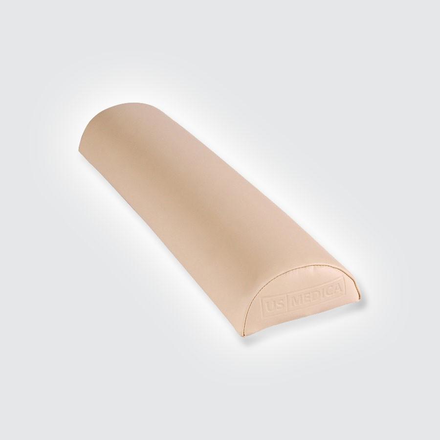 Валик средний полукруглый US MEDICA USM 004Массажные валики подходят к любому массажному столу. Обивка изготовлена из арпатека высокого качества (искуственная кожа, гипоаллергенная и приятная на ощупь). Наполнитель - поролон. Валики надежно крепится к столу ремнями с застежками.<br>
