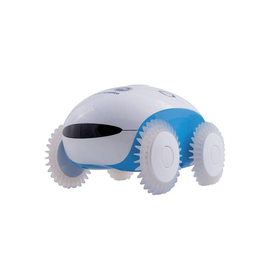 Робот-массажер WheeMe ГолубойМассажеры<br>Робот-массажер WheeMe является настоящей инновацией в сфере массажных устройств. Этот компактный роботизированный массажер качественно и эффективно способен выполнять массаж в нескольких режимах: вибромассаж (за счет вибрации колесиков), расслабляющий массаж (с помощью специальных нанопальчиков) и режим &amp;laquo;танца&amp;raquo; (аппарат двигается, так как будто совершает танцевальные движения).<br>