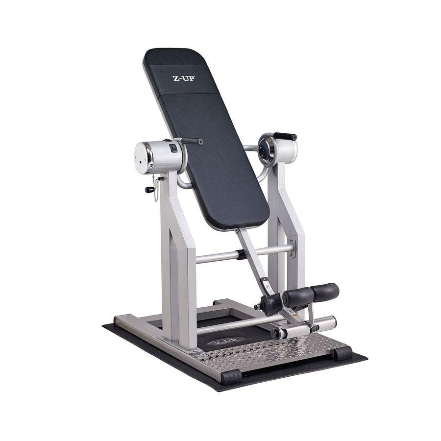 Инверсионный стол Z-UP 2S silverПрофессиональный инверсионный стол, выполненный из высококачественных материалов корейского производства. Этот тренажер предназначен для использования в фитнес центрах под контролем профессиональных тренеров, которые знают, каким образом должны выполняться такие процедуры, порядок и интенсивность упражнений.<br>